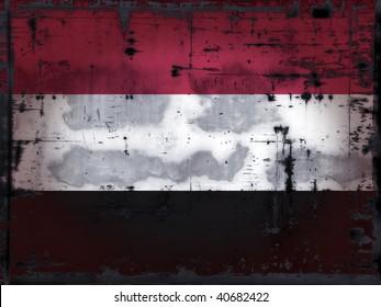 grunge background - yemen flag - illustration