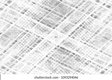 Grunge black and white pattern. Monochrome particles abstract texture. Dark design background surface.