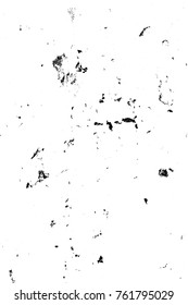 Grunge black and white pattern. Monochrome particles abstract texture. Background of cracks, scuffs, chips, stains, ink spots, lines. Dark design background surface. Gray printing element