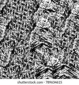 Grunge black and white pattern. Monochrome particles abstract texture.