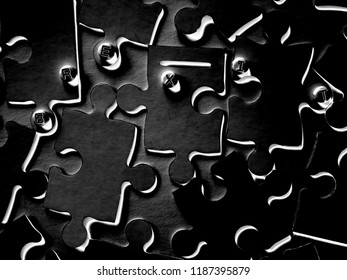"A Grunge and Bland Word ""Brexit"" on Mixed and Separate Puzzle Pieces, with a Blank Jigsaw to Solve."