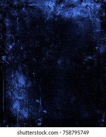 Grunge blue scratched background, space for your text or image