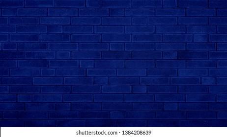 Grunge brick wall blue texture navy blue background