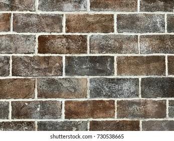 grunge brown bricks wall for texture background