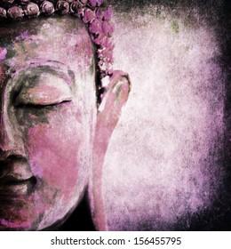 Grunge Buddha pink