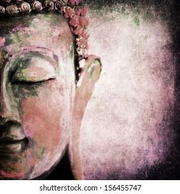 Grunge Buddha red