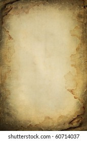 grunge burned and wet paper sheet space for text or image