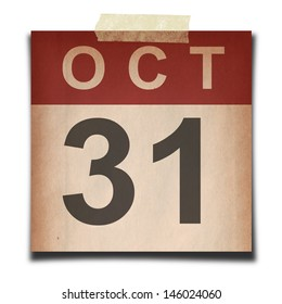 Grunge calendar for october on white background