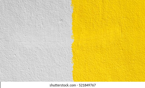 grunge cement brown and yellow wall, textured background