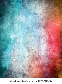 Grunge color texture, blue and red color, old scratched surface