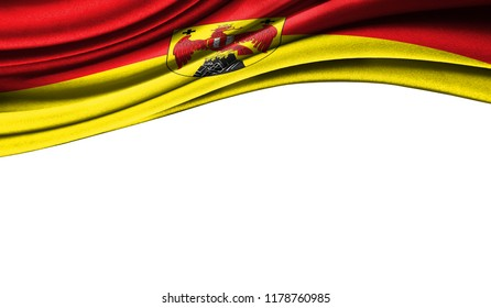 Grunge colorful flag of Burgenland with copyspace for your text or images,isolated on white background