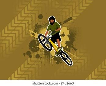 Grunge country rider (background, wallpaper, magazin...)