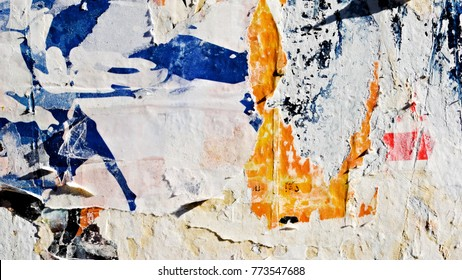 Grunge creased crumpled ripped torn posters paper texture background backdrop surface placard