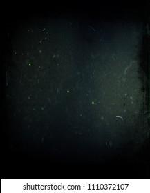 Grunge dark scratched background, old film effect