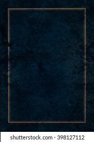 Grunge dark textures with gold frame