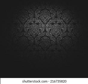 grunge dark wallpaper (for background); antique pattern: baroque.