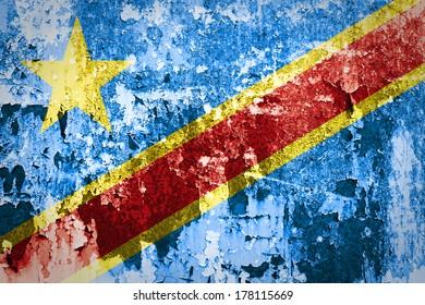 Grunge of Democratic Republic of the Congo Flag
