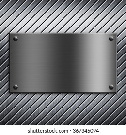 Grunge diagonal stripes on a metal background