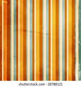 Grunge distressed shabby striped background in vibrant colors