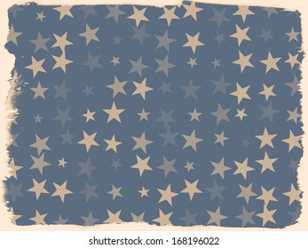 Grunge and distressed vintage starry background