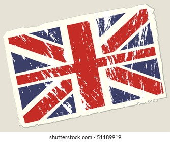Grunge english flag. Modern background.