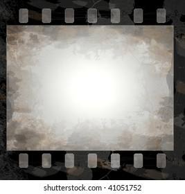 grunge film frame with space for your text or image - check for more