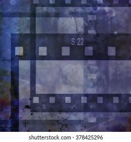 grunge film strip background, design element