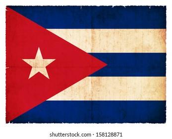 Grunge flag of Cuba (Netherlands)