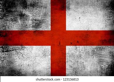 Grunge flag of England