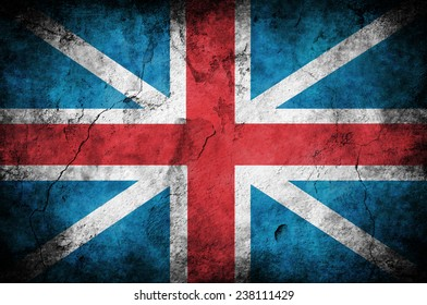 grunge flag of England