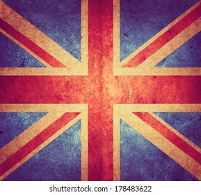 grunge flag of England. Retro stale.