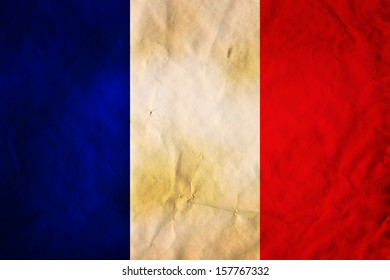 Grunge flag of European country France