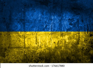 Grunge flag of European country Ukraine