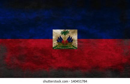 Grunge flag of Haiti
