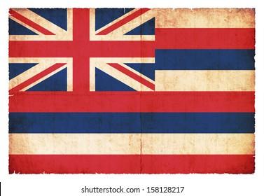 Grunge flag of Hawaii (USA)