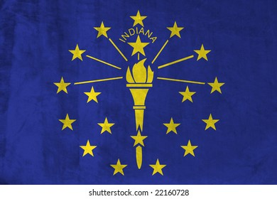 Grunge Flag of Indiana