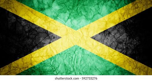 Grunge flag of Jamaica.