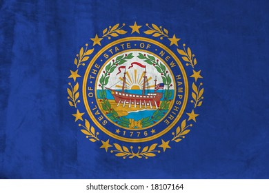 Grunge Flag of New Hampshire