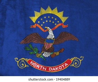 Grunge Flag of North Dakota