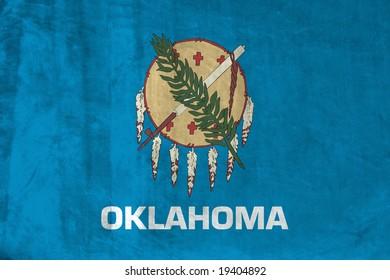 Grunge Flag of Oklahoma
