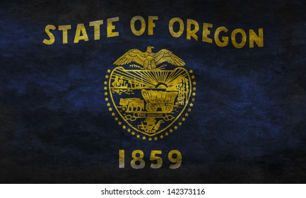 Grunge flag of Oregon