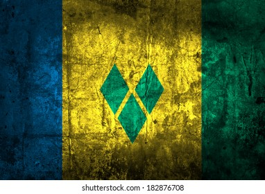 Grunge Flag of Saint Vincent and the Grenadines