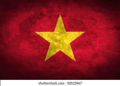 Grunge flag series of all sovereign countries - Vietnam