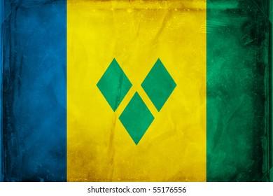 Grunge flag series -  St. Vincent
