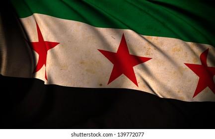 Grunge flag of Syria Republic