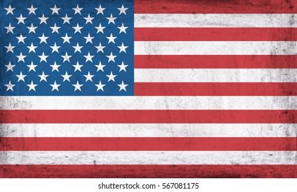 Grunge flag of USA.