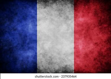 grunge France flag