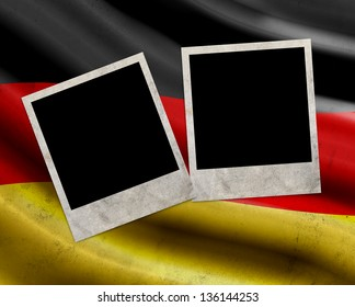 Grunge Germany flag with photo frames