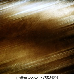 Grunge gold metal background with cracks and scratches
