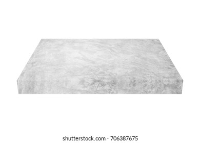 grunge grey concrete block isolated on white background with clipping path